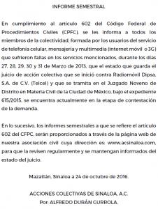 informe semestral - 24/10/2016